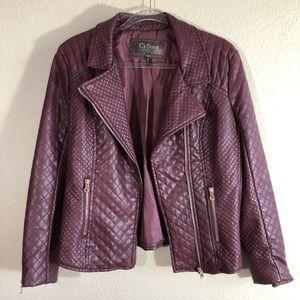 Ci Sono burgundy Moto jacket